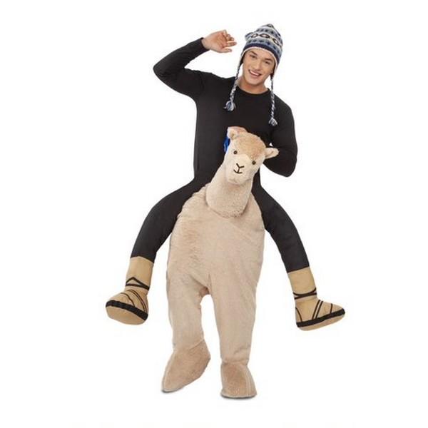 disfraz ride on alpaca mujer - DISFRAZ DE ALPACA A HOMBROS ADULTO