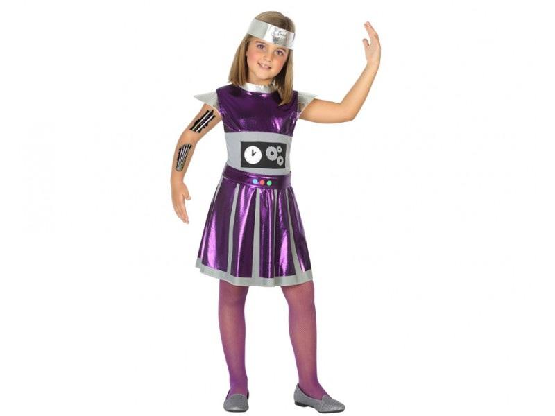 disfraz robot niña - DISFRAZ DE ROBOT NIÑA