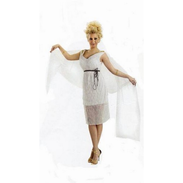 disfraz romana blanco - DISFRAZ DE ROMANA BLANCO MUJER