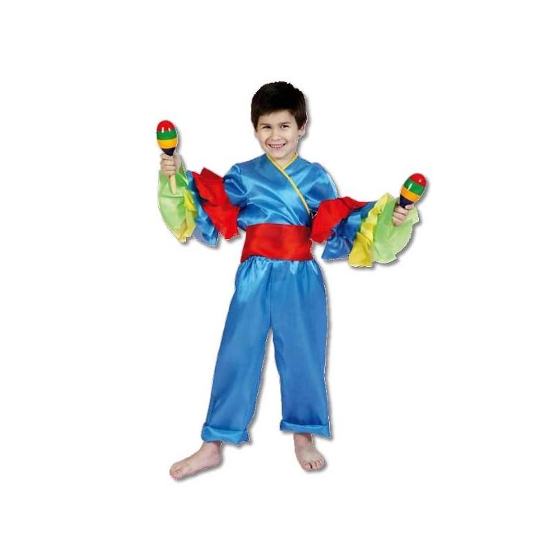 disfraz rumbero azul niño - DISFRAZ DE RUMBERO AZUL NIÑO