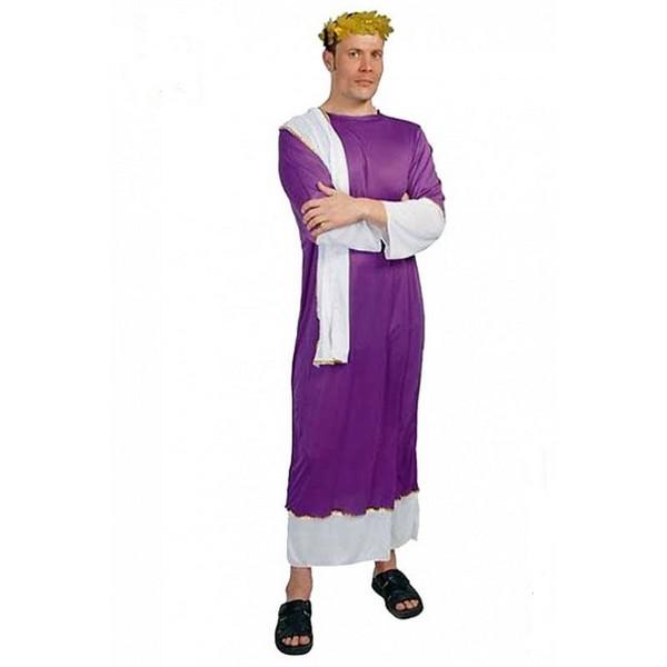 disfraz senador romano lila hombre - DISFRAZ DE SENADOR ROMANO LILA HOMBRE