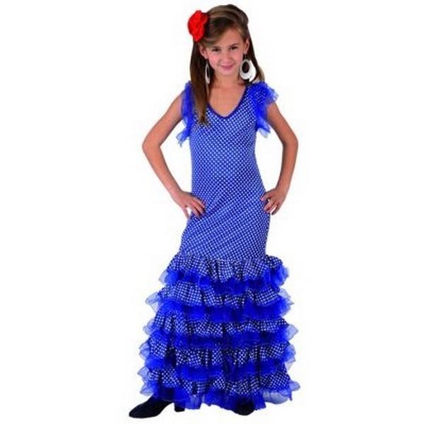 disfraz sevillana azul infantil - DISFRAZ DE SEVILLANA AZUL INFANTIL
