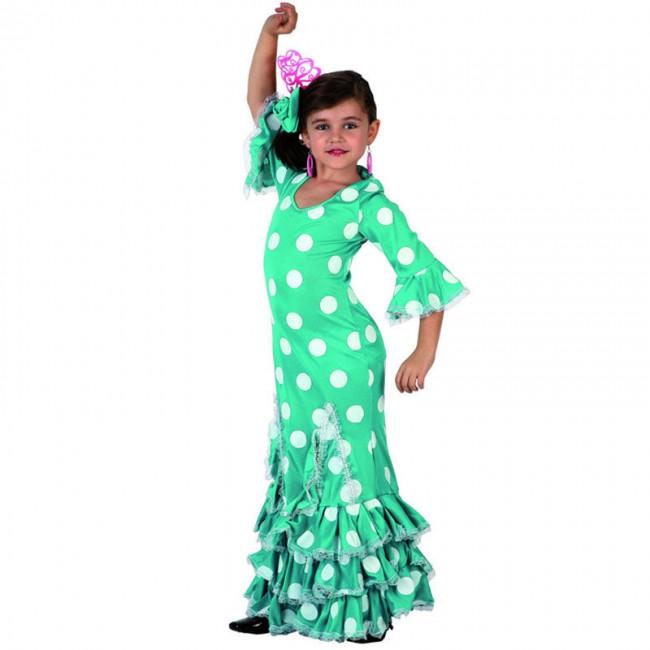 disfraz sevillana celeste infantil - DISFRAZ DE SEVILLANA CELESTE INFANTIL