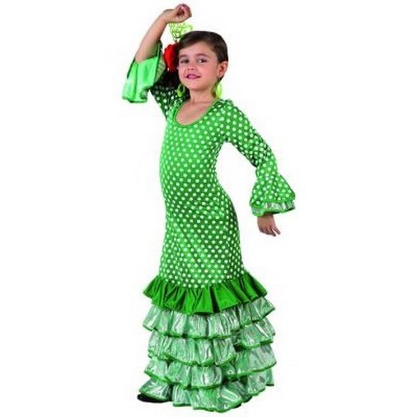 disfraz sevillana verde infantil - DISFRAZ DE SEVILLANA VERDE INFANTIL