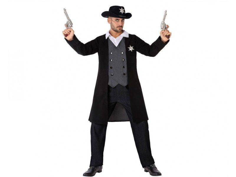 disfraz shefiff negro hombre 800x600 - DISFRAZ DE SHERIFF NEGRO HOMBRE