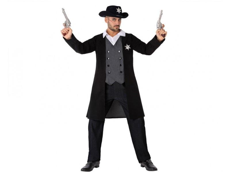 disfraz shefiff negro hombre - DISFRAZ DE SHERIFF NEGRO HOMBRE