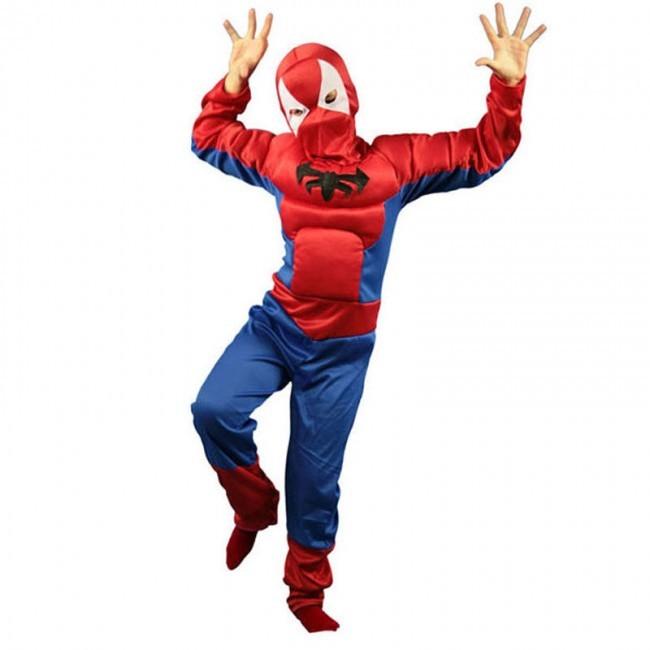 disfraz spiderman araña niño - DISFRAZ DE SPIDERMAN ARAÑA MUSCULOSO NIÑO
