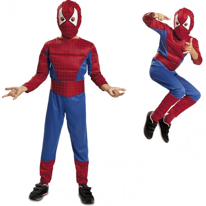 disfraz spiderman musculoso infantil - DISFRAZ DE SPIDERMAN MUSCULOSO NIÑO