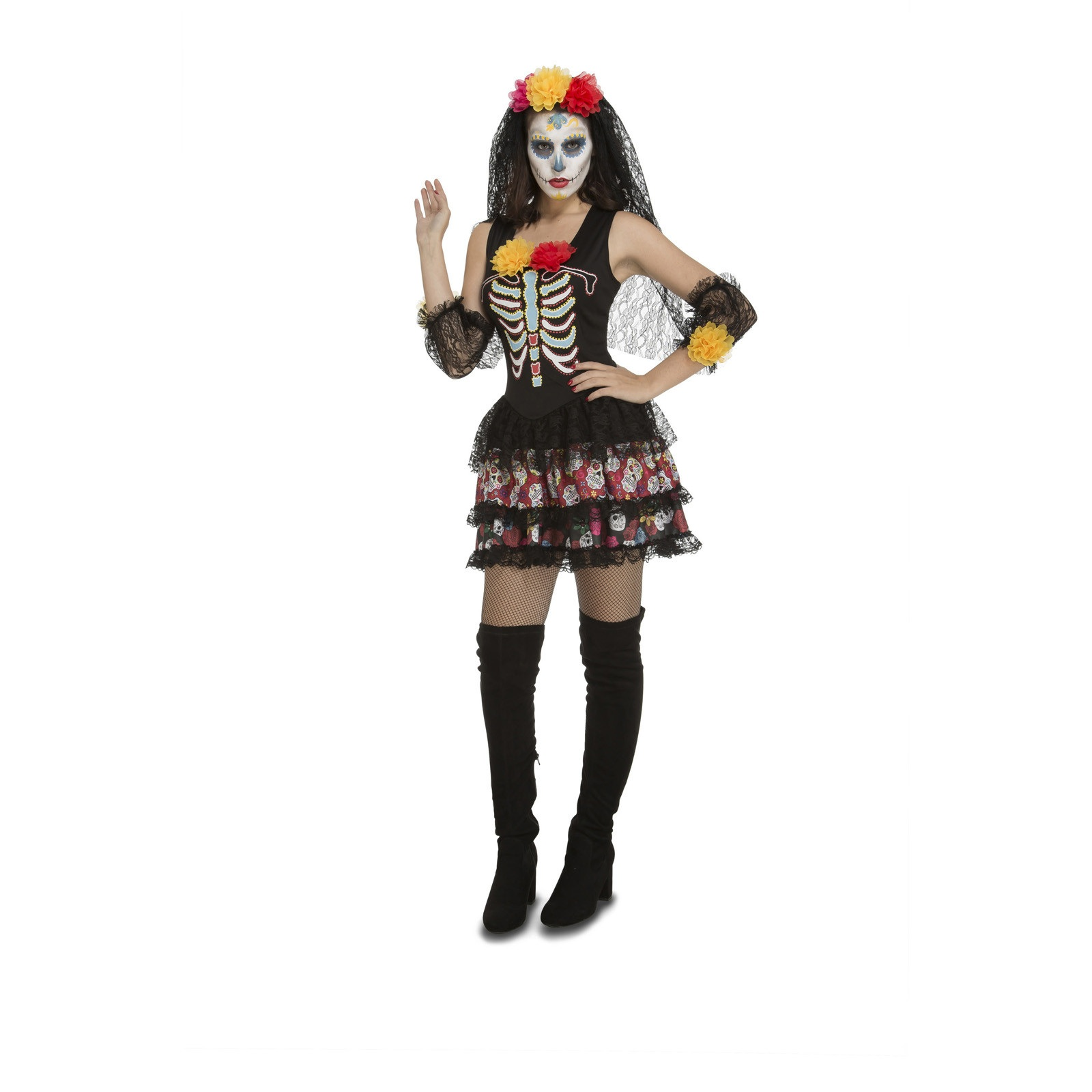 disfraz sugarskull mujer - DISFRAZ DE SUGAR SKULL MUJER