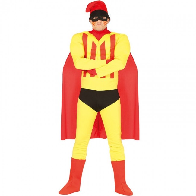disfraz superhéroe catalán adulto - DISFRAZ DE SUPERHÉROE CATALÁN