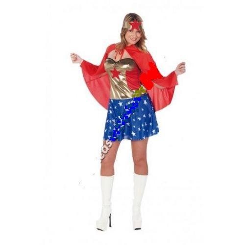 disfraz superheroína mujer - DISFRAZ FALDA SUPERHEROINA MUJER