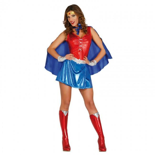 disfraz superheroina mujer 1 - DISFRAZ DE WONDER WOMAN MUJER