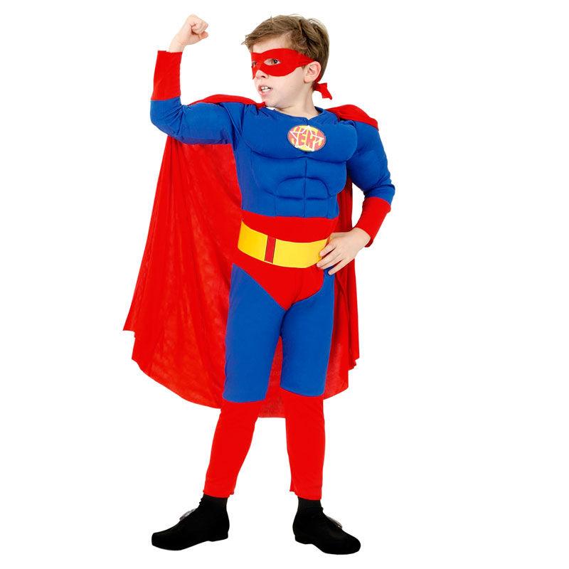 disfraz superman musculoso infantil 1 - DISFRAZ DE SUPERMÁN MUSCULOSO NIÑO