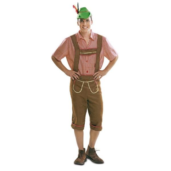 disfraz tirolés marrón hombre - DISFRAZ DE TIROLES MARRON HOMBRE
