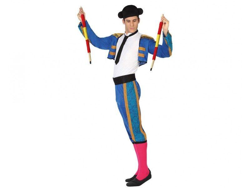 disfraz torero azul hombre 800x600 - DISFRAZ DE TORERO AZUL HOMBRE
