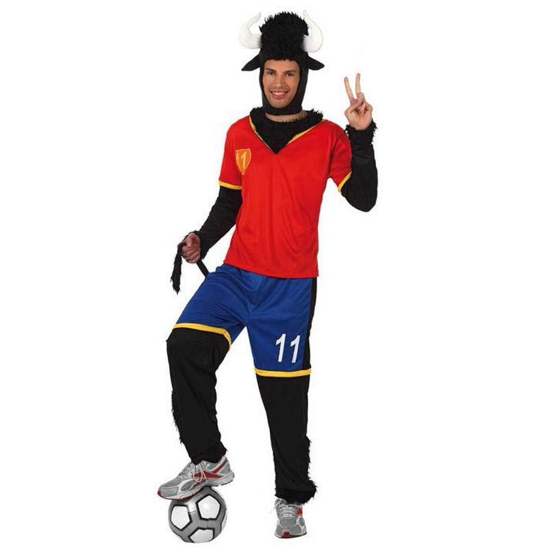 disfraz toro futbolista adulto - DISFRAZ DE TORO FUTBOLISTA ADULTO