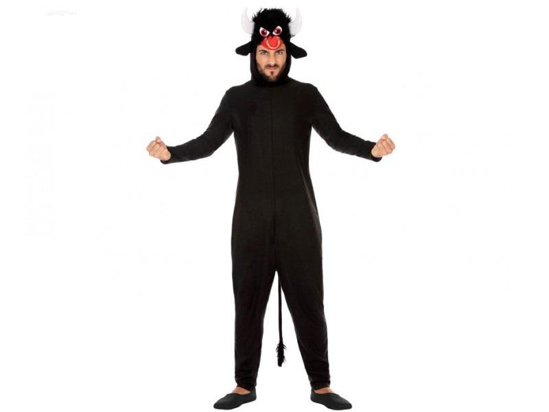 disfraz toro negro adulto - DISFRAZ DE TORO NEGRO ADULTO