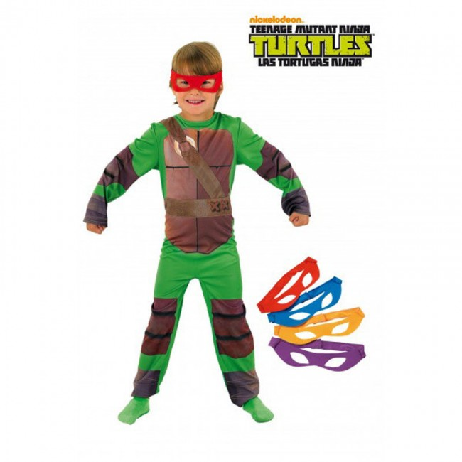 disfraz tortuga ninja licencia infantil - DISFRAZ DE TORTUGA NINJA OFICIAL INFANTIL