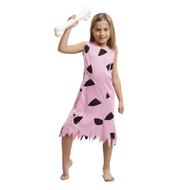 disfraz troglodita rosa niña 800x800 - DISFRAZ TROGLODITA ROSA NIÑA