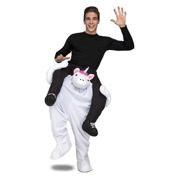 disfraz unicornio a hombros hombre - DISFRAZ UNICORNIO A HOMBROS ADULTO
