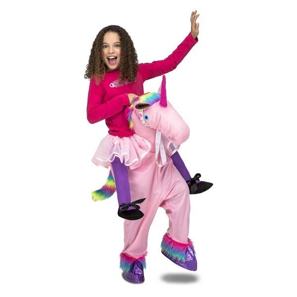 disfraz unicornio a hombros rosa infantil - DISFRAZ DE UNICORNIO A HOMBROS ROSA UNISEX