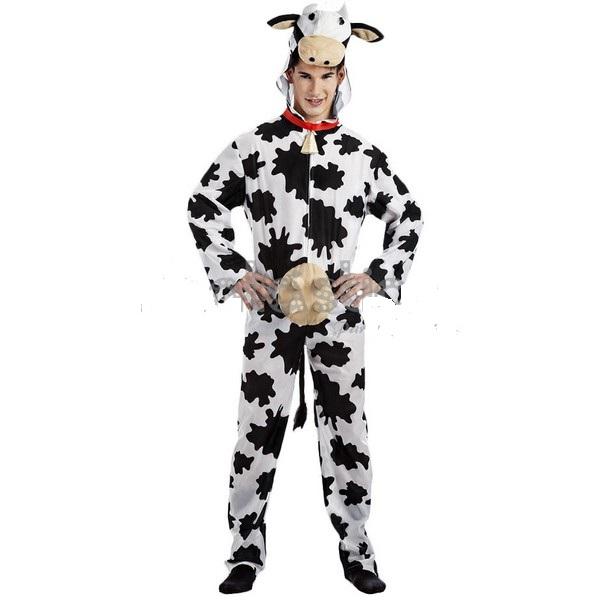 disfraz vaca adulto 1 - DISFRAZ DE VACA UBRES ADULTO
