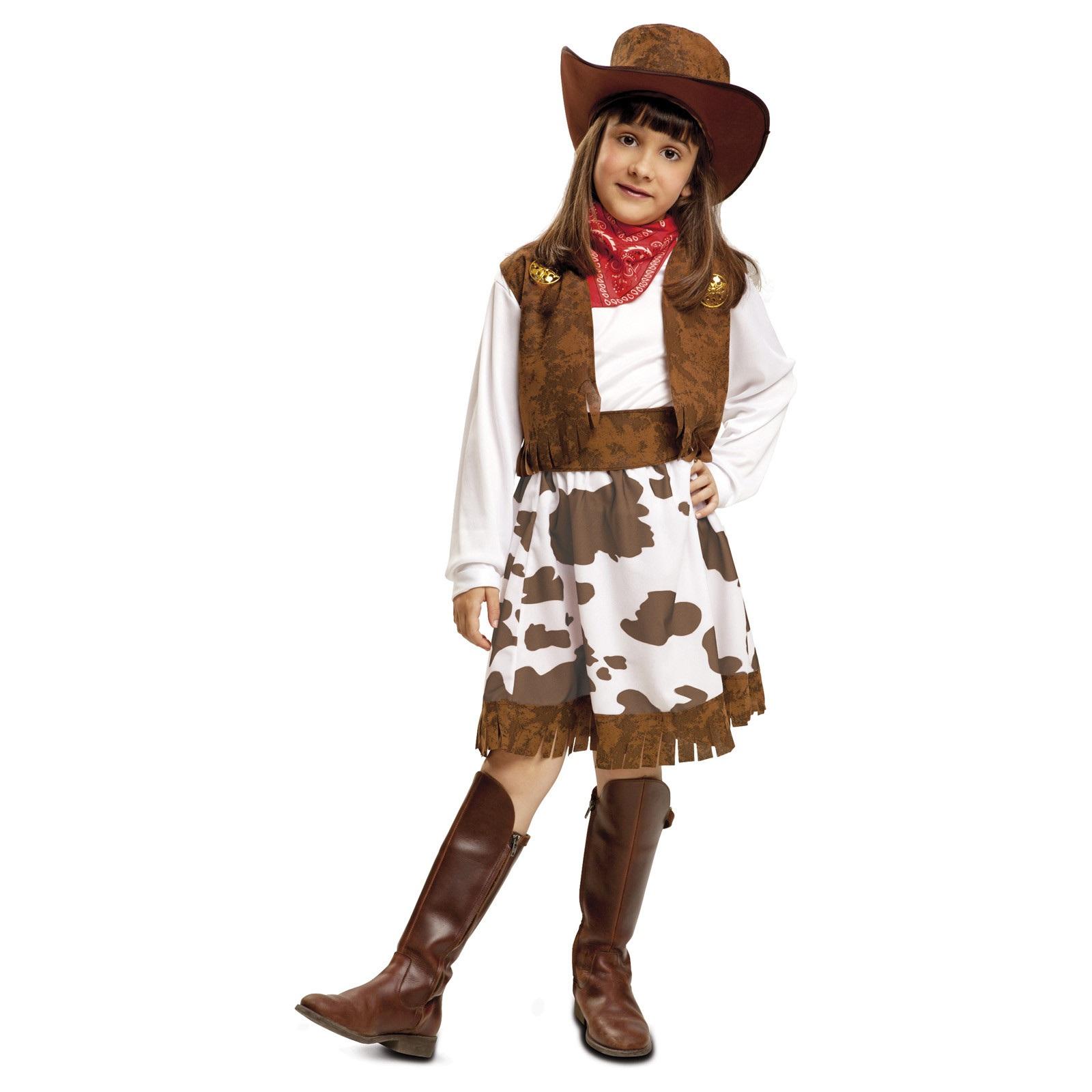 disfraz vaquera blanco y marrón niña 200830mom - DISFRAZ DE VAQUERA BLANCO Y MARRON NIÑA