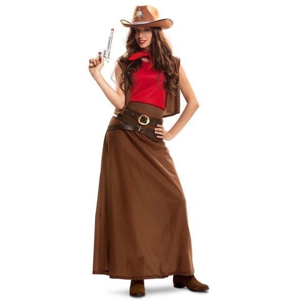 disfraz vaquera larga mujer 200886mom - DISFRAZ DE VAQUERA LARGO MUJER