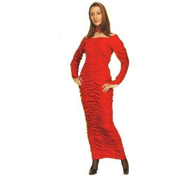 disfraz velbet rojo - DISFRAZ CUERPO VELVET ROJO ADULTO