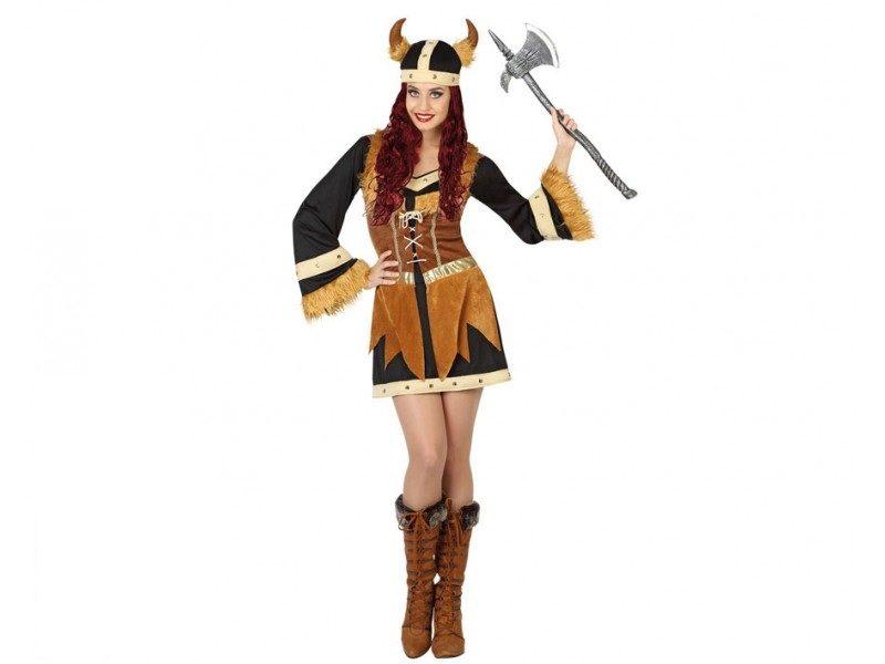 disfraz vikinga corto mujer 800x600 - DISFRAZ DE VIKINGA MUJER