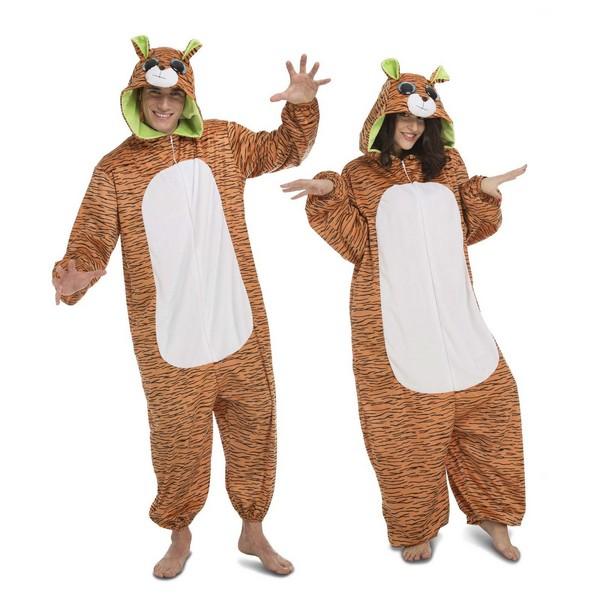 disfrz pijama tigre adulto - DISFRAZ PIJAMA TIGRE ADULTO