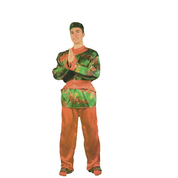 disftraz chino verde hombre - DISFRAZ DE CHINO VERDE HOMBRE