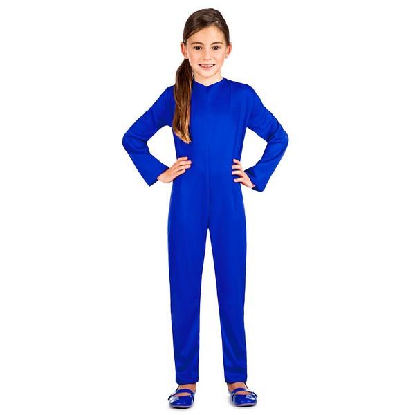 maillot azul unisex infantil - DISFRAZ MAILLOT COLOR AZUL UNISEX