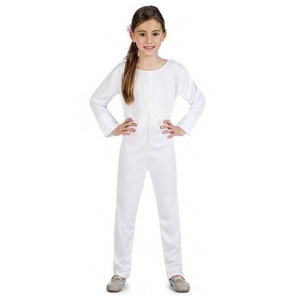 maillot blanco unisex infantil - DISFRAZ MAILLOT COLOR BLANCO UNISEX