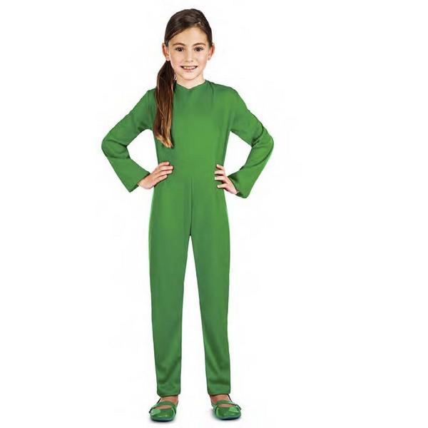 maillot verde unisex infantil - DISFRAZ MAILLOT COLOR VERDE UNISEX