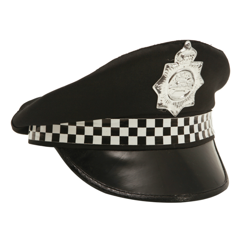 mom01608 - SOMBRERO POLICIA CUADROS