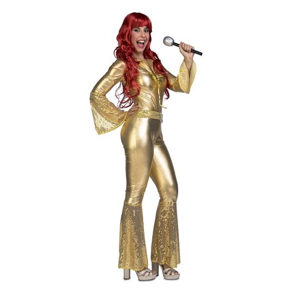 mono disco oro mujer - DISFRAZ DISCO ORO MUJER