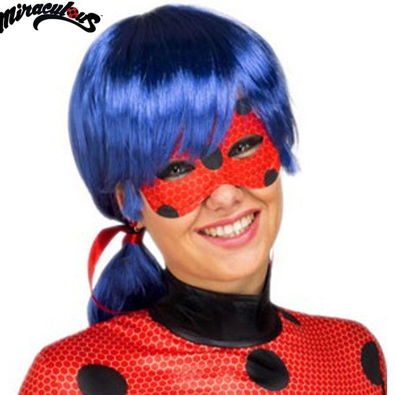 peluca y antifaz de ladybug en caja para mujer 800x800 - PELUCA LADYBUG ADULTO