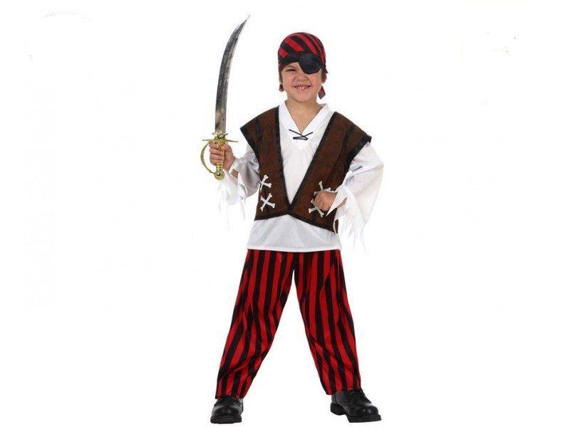 pirata del mar infantil 800x600 - DISFRAZ DE PIRATA DEL MAR NIÑO