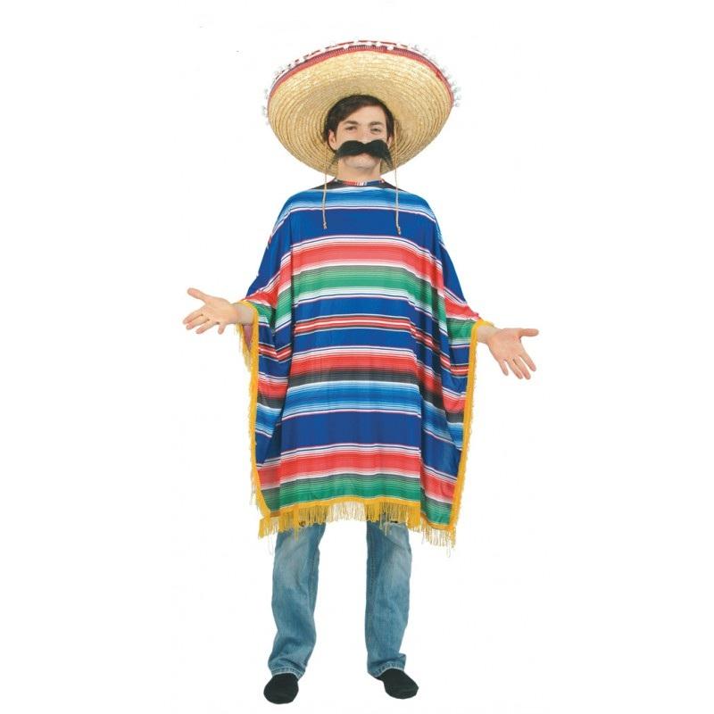 poncho mejicano adulto - PONCHO DE MEJICANO HOMBRE