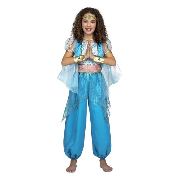 princesa árabe azul niña - DISFRAZ DE PRINCESA ARABE TURQUESA NIÑA