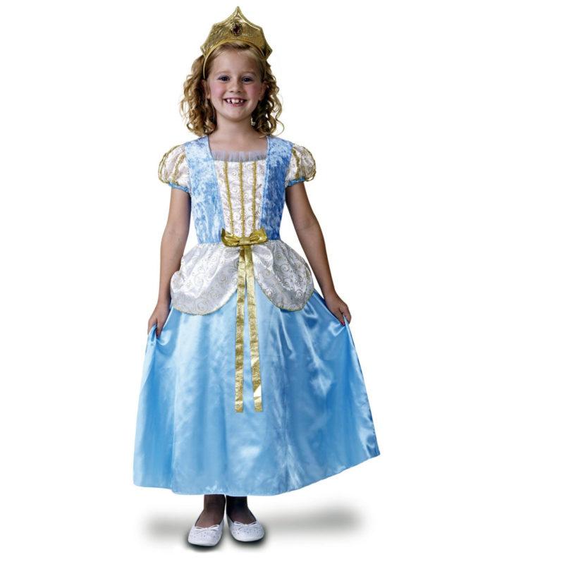 princesa azul de lujo niña 800x800 - DISFRAZ DE PRINCESA  AZUL LUJO NIÑA