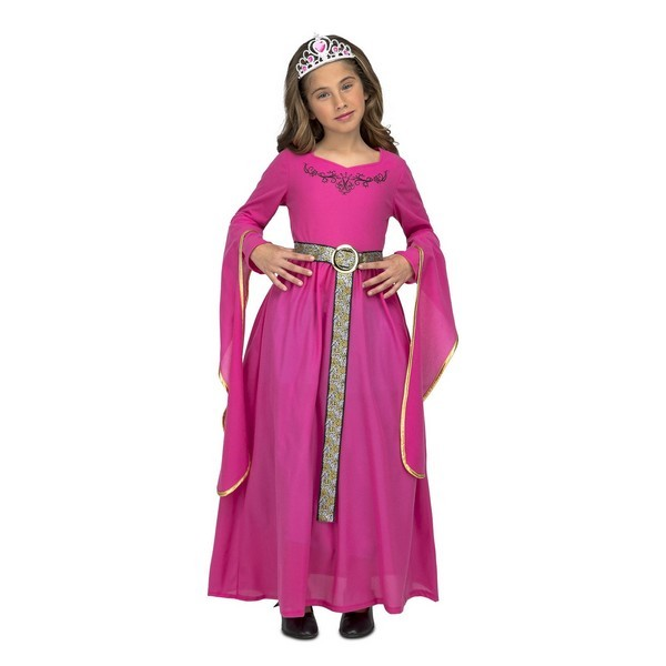 princesa medieval rosa niña - DISFRAZ DE PRINCESA MEDIEVAL ROSA NIÑA