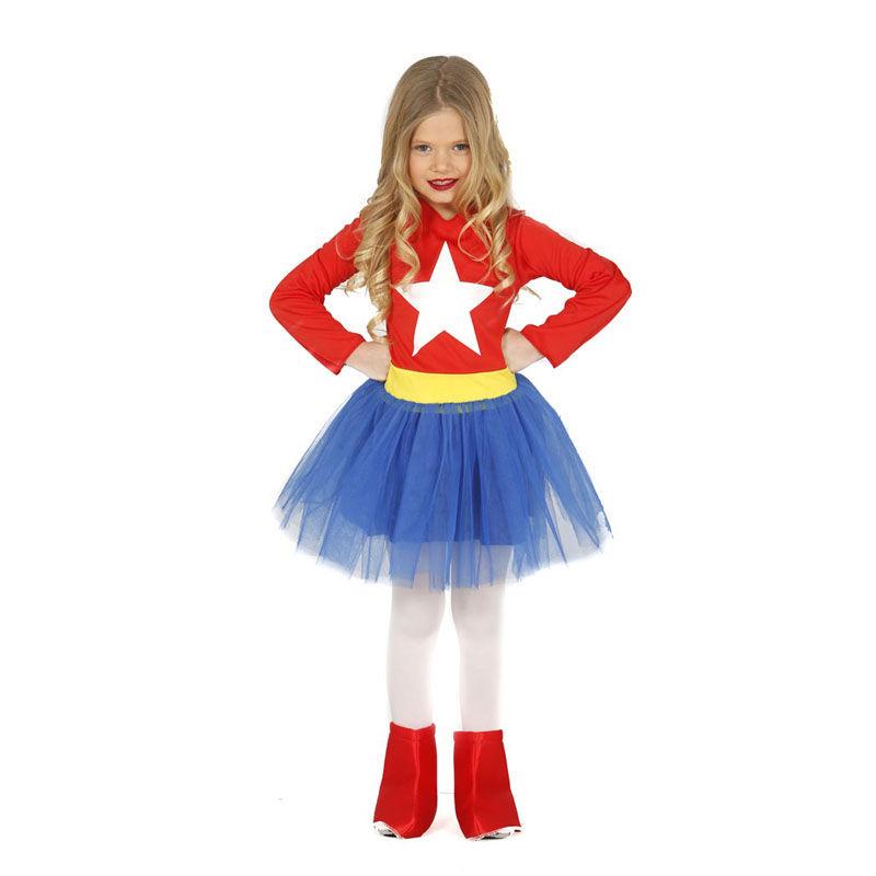 wonderwoman infantil - DISFRAZ DE SUPERHEROINA NIÑA